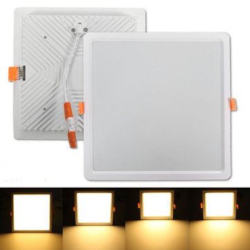 7W 16W 24W 32W Square LED Recessed Ceiling Panel Down Light Warm White With Driver 85-265V