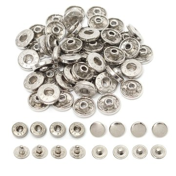 50pcs 10mm Metal No Sewing Press Studs Buttons Snap Fastener Sewing Clothing