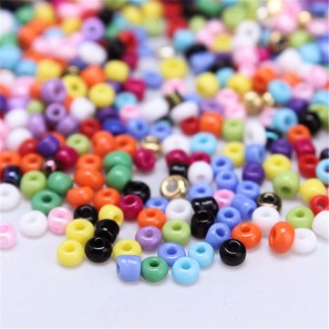 1200pcs 2mm Multicolor Czech Glass Seed Spacer Beads DIY Jewelry