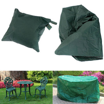 95x140cm Garden Outdoor Furniture Waterproof Breathable Round Dust Cover Table Shelter