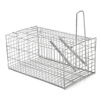 Rat Trap Cage Hayvan Zararlı Rodent Fare Mouse Kontrolü Canlı Yem Toplama Gümüş