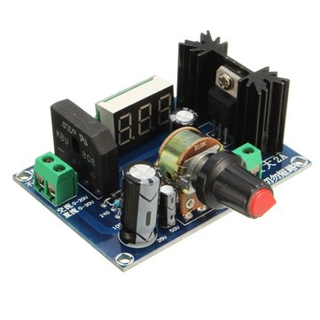 Buy LED Display LM317 Adjustable Voltage Regulator Step Down Module AC/DC To 3V 5V for $6.79 in Banggood store