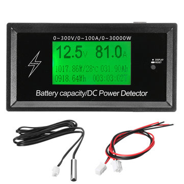 150V 20A Lithium Battery Voltage Ammeter Battery Capacity DC Power Meter Detector