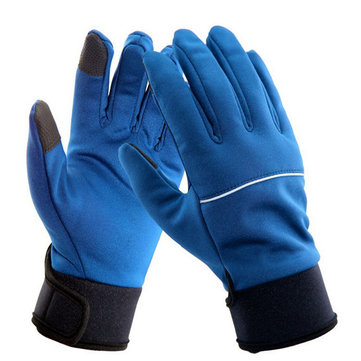 Men Women Soft Shell Bike Tough Screenn Gloves Ski Gloves Outdooors Sport Gloves Windproof Waterproof