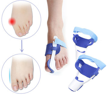 1 Pair Bunion Care Corrector Hallux Valgus Straightener Orthopedic Braces Strap Big Toe Bone Tool