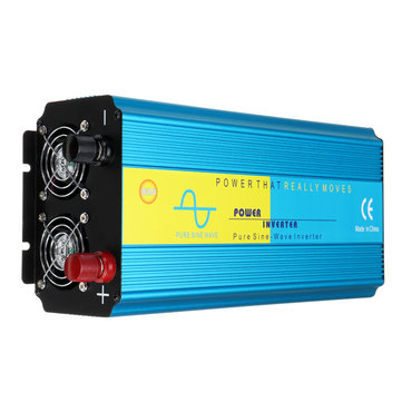 4000W Peak LCD Intelligent Power Inverter DC 12V/24V to AC 220V Pure Sine Wave Converter