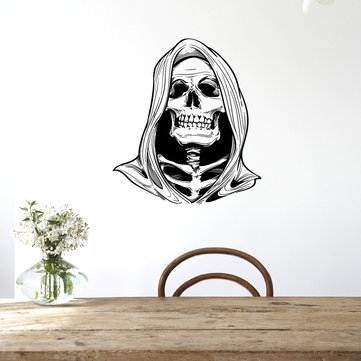 Hallowen Witch Skull Head Glass Window Decor Wall Sticker Party House Home Decoration