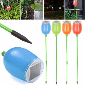4PCS โซลา พลังงาน LED ฝังอยู่ในไฟพื้น สวน เส้นทางรั้วสนามหญ้าโคมไฟแสงสว่าง