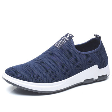 Men Casual Soft Knitted Slip On Sneakers