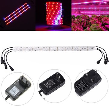 3PCS 18W SMD5050 Non-waterproof LED Plant Grow Strip Light Aquarium Greenhouse Hydroponic DC12V