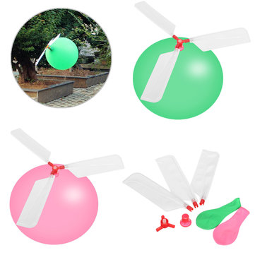 Classic Outdoor Game Helicopter Balloons Flying DIY Flight Science Plane Children Play Toy