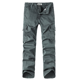Casual Cargo Pants Plus Size Big Pockets Straight Leg Loose Casual Cotton Trousers