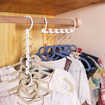 8pcs Space Saver Wonder Hanger Magic Clothes Hook Closet Organizer Multifunctional Rack