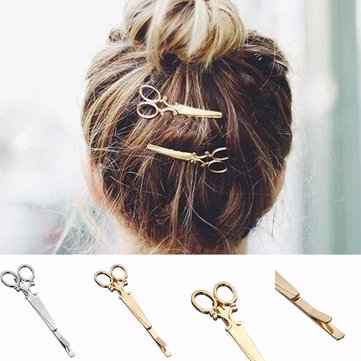 Women Fashion Hair Clip Delicate Scissors Hair Pin Hair Decorations Jewelry