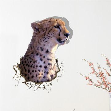 3d muro leopardo adesivo pag decalcomanie animale parete smontabile regalo adesivi buco decorazione della casa