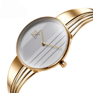 SK K0062 Unique Design Women Bracelet Watch Decorative Fashion Style Quartz Watches