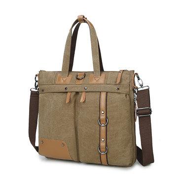 Multifunctional Crossbody Bag Canvas Computer Backpack
