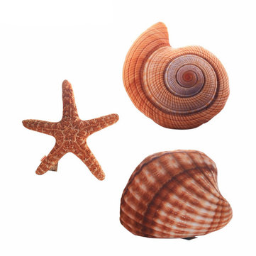 Marine Life Plush Pillows Conch & Shell & Starfish Stuffed Plush Toy Cute Cushion Dolls