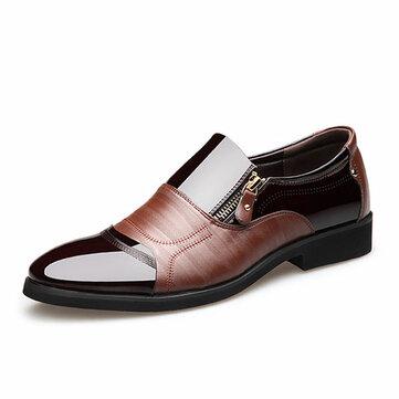 Cómodos Para De Con Hombres Zapatos Cuero Punta Estrecha j534ARLq