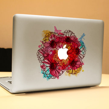 PAG Flowering Shrubs Decorative Laptop Decal Removable Bubble Free Self-adhesive Skin Sticker