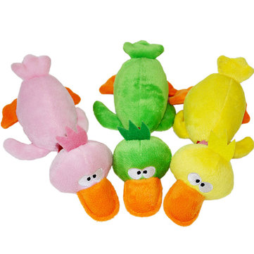 Pet Puppy Dog Chew Toys Plush Sound Duck for Small Dogs 3 Colors