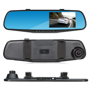 4.3 Inch HD 1080P Rear View Mirror Camera Back Reversing In Car Camera DVR