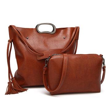 2PCS حقيبة مركب حقائب النساء أزياء مفرد حقيبة الكتف حقيبة يد مجموعات