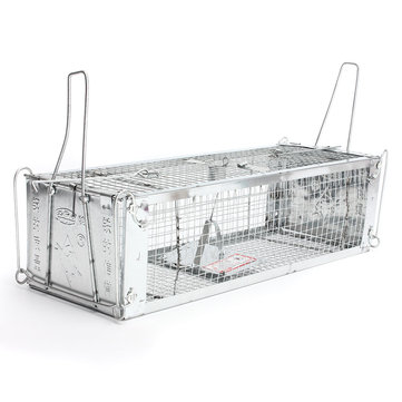 Two- Door Humane Live Animal Cage Rat Cage Trap Mouse Catcher