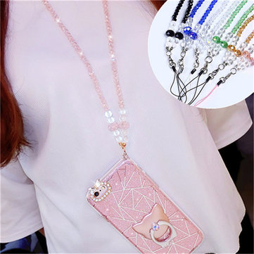 Universal 44cm Phone Strap Fashion Sling Lanyard Crystal Hanging Cell Phone Rope For iPhone Samsung