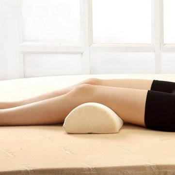 Slow Rebound Memory Foam Sleeping Lumbar Pillow Waist Neck Support Knee Cushion