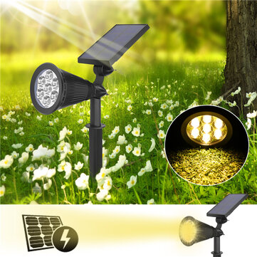 7 LED Solar Powered Waterproof Spotlight Outdoor Lawn Landscape Flood Lamp