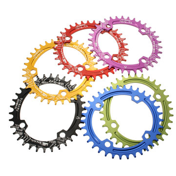 SNAIL 34T Oval Disc Chainring Bicycle Crankset 104MM Chainwheel Bike Single-tooth Positive and Negative Plate