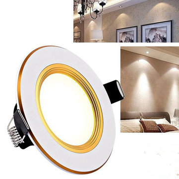 3W LED Intelligent Color Down Light Recessed Ceiling Spot Lamp for Living Room Bedroom