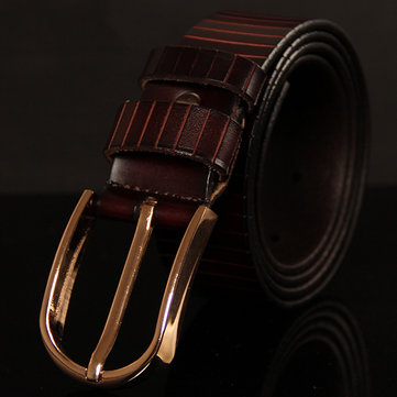 Mens Classic Dress Leather Belt Regular Big Tall Sizes with Single Prong Buckle