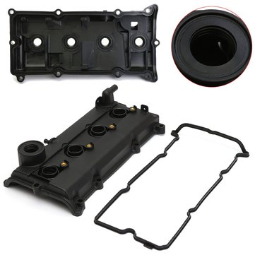 Car 2.5L Engine Valve Cover Gasket Spark Plug Seals Black For Nissan 02-06 Altima