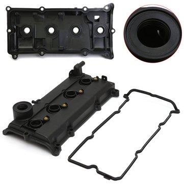 Car 2.5L Engine Valve Cover Gasket Spark Plug Seals Black For Nissan 02-06 Altima