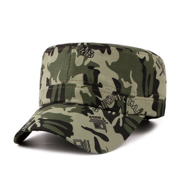 Men Women Unisex Camouflage Flat Baseball Cap Outdoor Sport Sun Visor Adjustable Hats