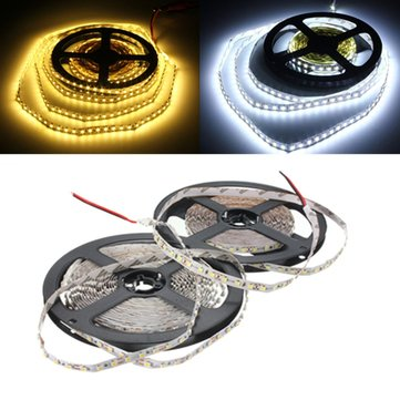 5M 48W DC12V 600 SMD 2835 Non-Waterproof White/Warm White Tape LED Flexible Strip light