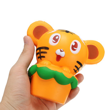 Squishy Tiger 13cm Soft Slow Rising 10s Collection Gift Decor Squeeze Stress Reliever Toy