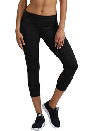 Women High Elastic Waist Stitching Yoga Leggings