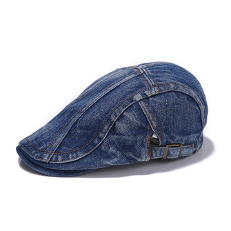 Unisex Men Women Denim Jeans Washed Newsboy Beret Hat
