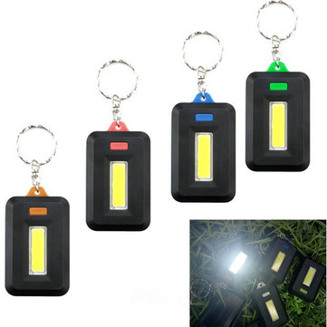 Mini Portable COB LED Work Inspection Flashlight Battery Powered Key Chain Tent Pocket Lamp
