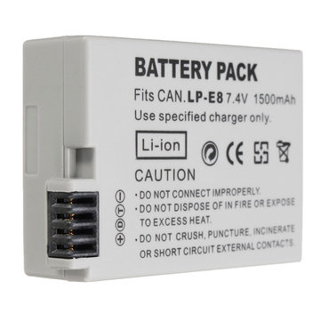 LP-E8 7.4V 1500mAh Rechargeable Camera Battery Pack for Canon 550D 600D 650D 700D
