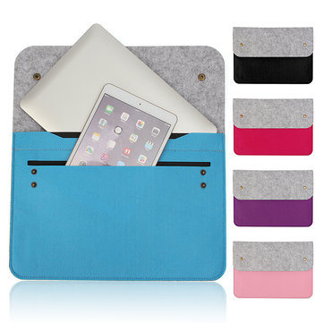 Wool Felt Laptop Sleeve Bag Notebook Case Carrying Handle Bag For Macbook Air/Pro 13 Inch