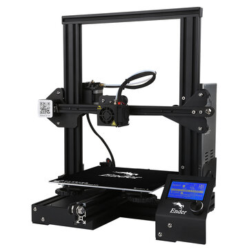 Creality 3D® Ender-3 V-slot Prusa I3 DIY 3D Printer Kit 220x220x250mm Printing Size With MK10 Extruder 1.75mm 0.4mm Nozzle