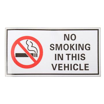 Waterproof NO SMOKING IN THIS VEHICLE Warning Sign Vinyl Decal Sticker 120*60mm