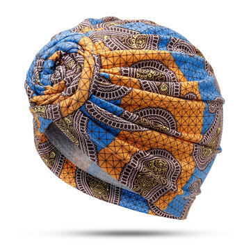 Women's Ethnic Forehead Circle Knot Headscarf Turban Cap