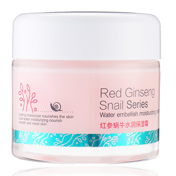 Soonpure Red Ginseng Snail Moisturizing Facial Cream Nourish Smooth Moisturizer Skin Care 60g