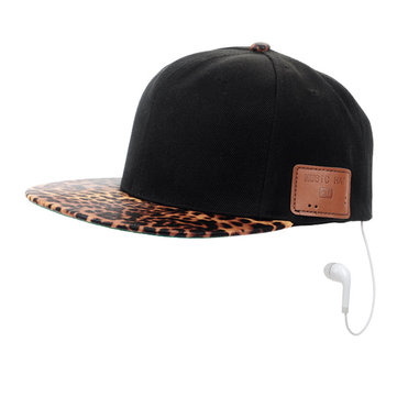 Leopard Grain Wireless Bluetooth Sunbonnet Sunshade Cap Music Hip-Hop Hat