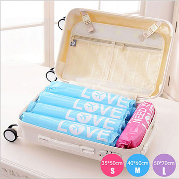 2pcs Travel Vacuum Waterproof Storage Bag Clothes Space Saver Seal Compressed Organizer